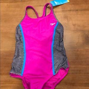 Girls size 16 speedo swim suit .  New with tags!